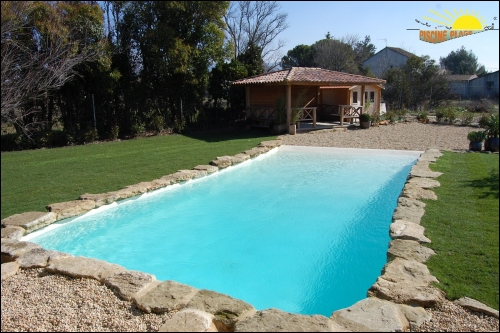 D coration plage piscine for Piscine plage immergee