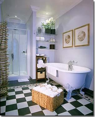 modèle décoration salle de bain à l\'ancienne