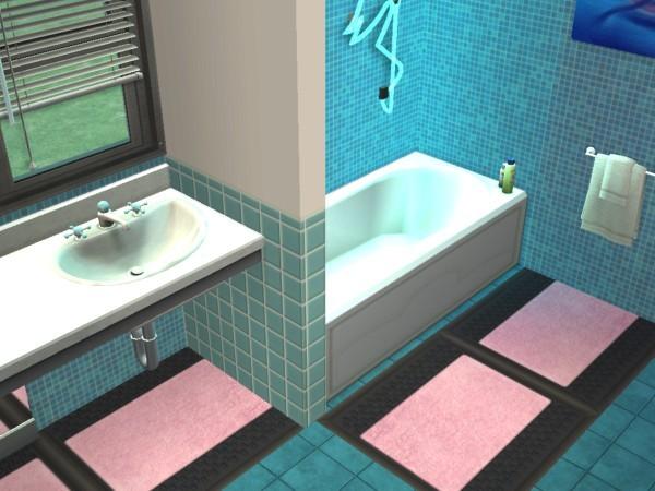 dcoration salle de bain bleu et rose - Decoration Salle De Bain Bleu