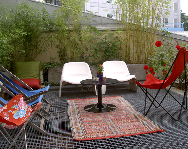 D coration terrasse appartement for Idee terrasse pas cher