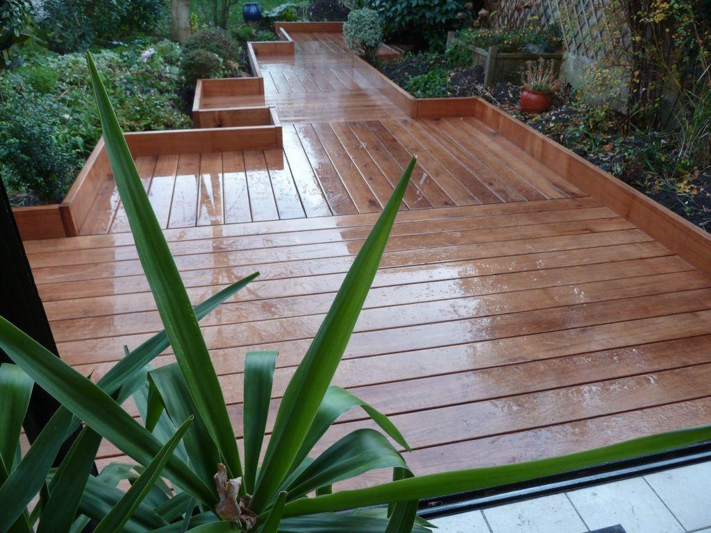 D coration terrasse exterieure bois for Plancher de terrasse exterieur