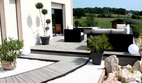 D coration terrasse exterieure moderne for Design exterieur