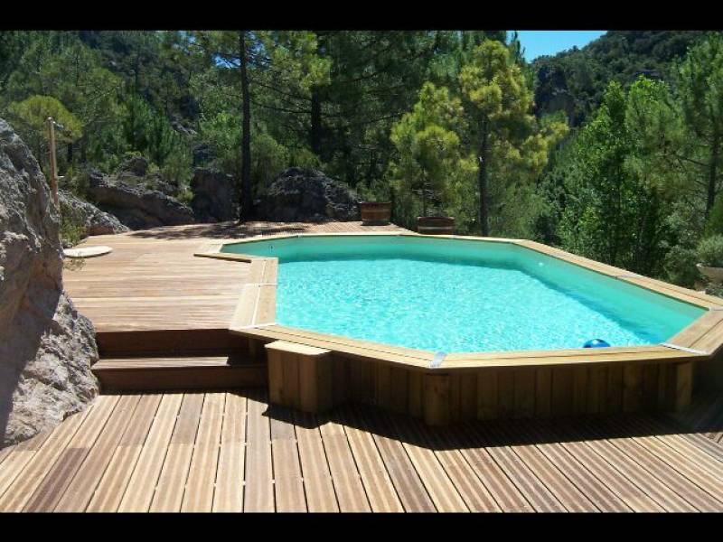 d coration terrasse piscine bois. Black Bedroom Furniture Sets. Home Design Ideas