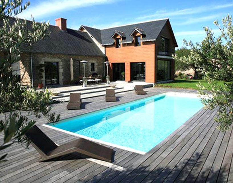 décoration terrasse piscine