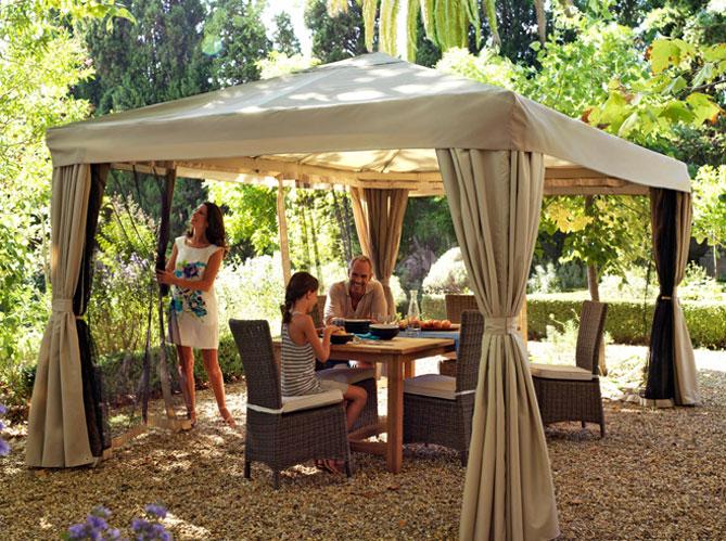 Decoration pergola jardin - Tonnelle en bois pour jardin ...