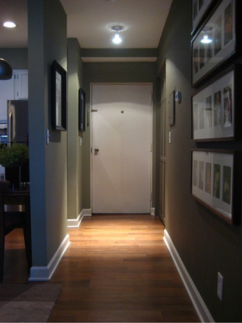 belle idée déco entrée couloir gris
