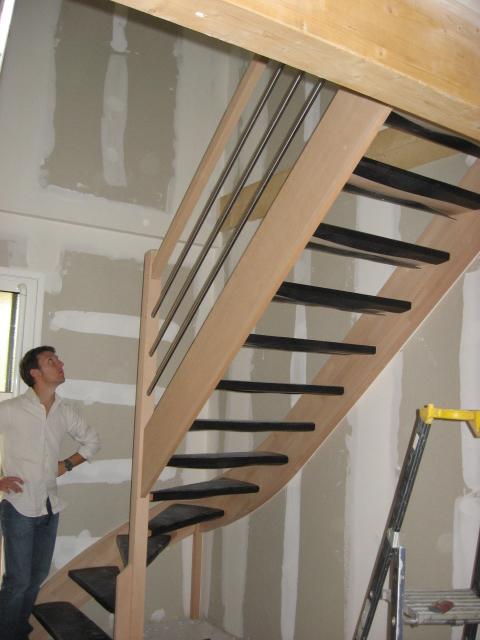Idée Déco Salle De Bain Moderne : idée déco hall d'entrée avec escalier