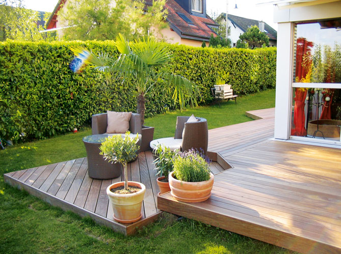 Terrasse bois idee diverses id es de conception de patio en bo - Idee amenagement terrasse ...