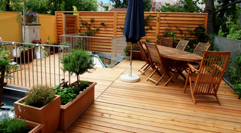 Id es d co terrasse ext rieure for Idee deco terrasse bois