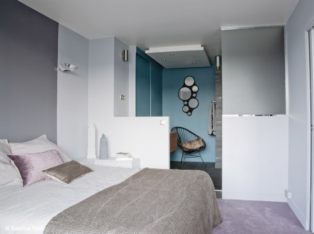 Idee d co chambre suite parentale for Amenagement suite parentale avec salle de bain