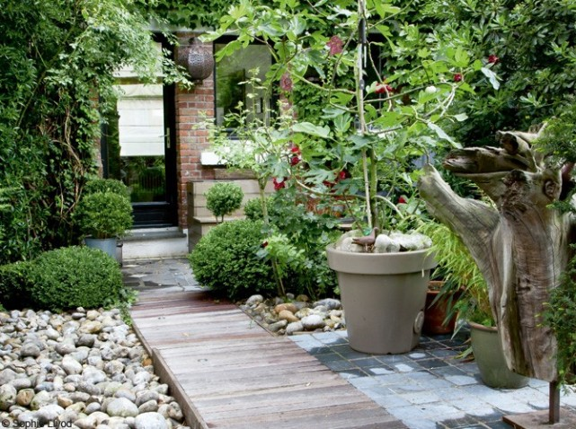 idee amenagement jardin entree