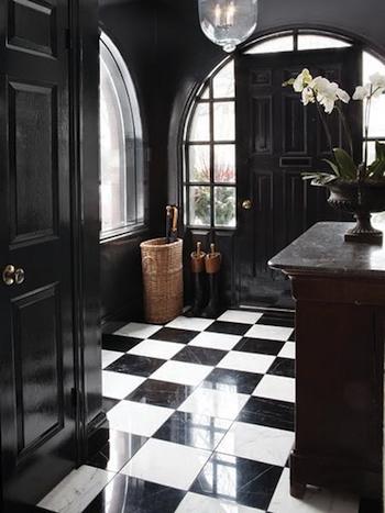 Idee d co entr e noir et blanc for Deco entree blanc