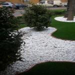 idee déco jardin galet blanc