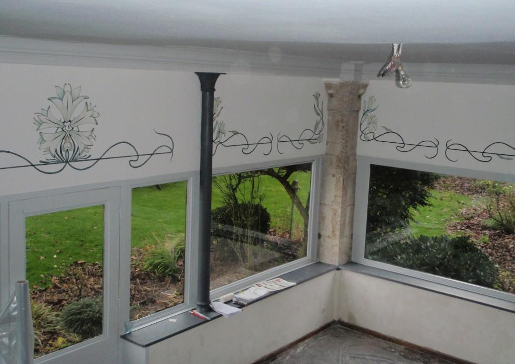 déco mur de veranda