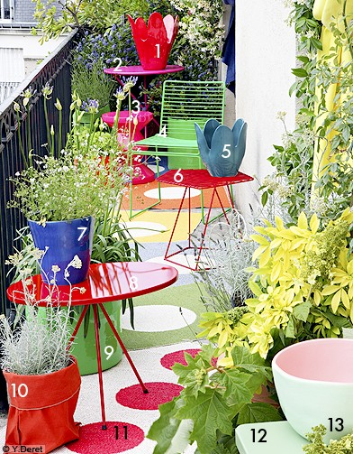 Idee d co terrasse balcon for Decoration de balcon