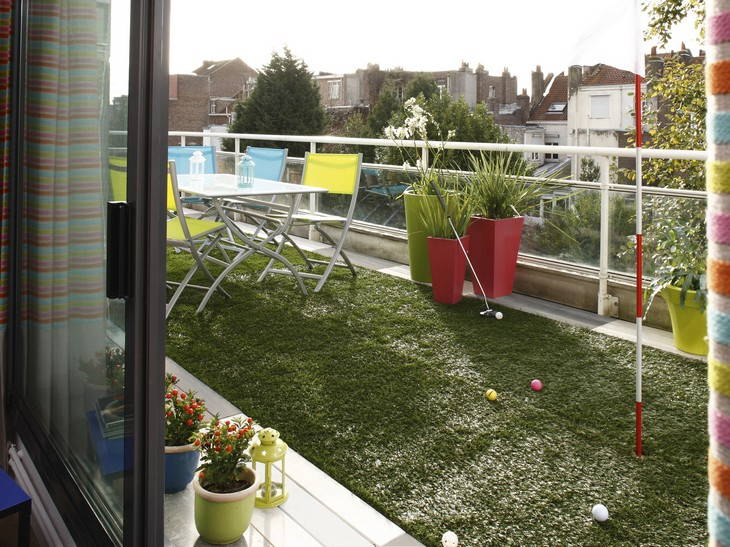 Idee d co terrasse balcon for Idee deco pas cher appartement