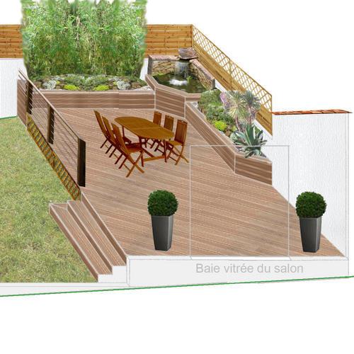 Idee d coration terrasse bois for Idee deco jardin terrasse