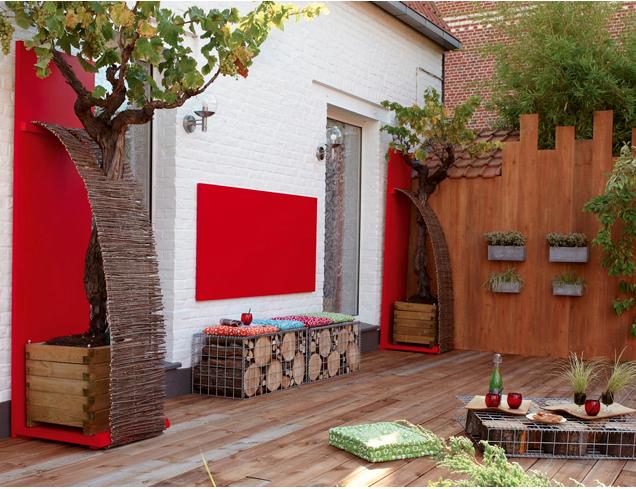 Jolie idee décoration terrasse bois
