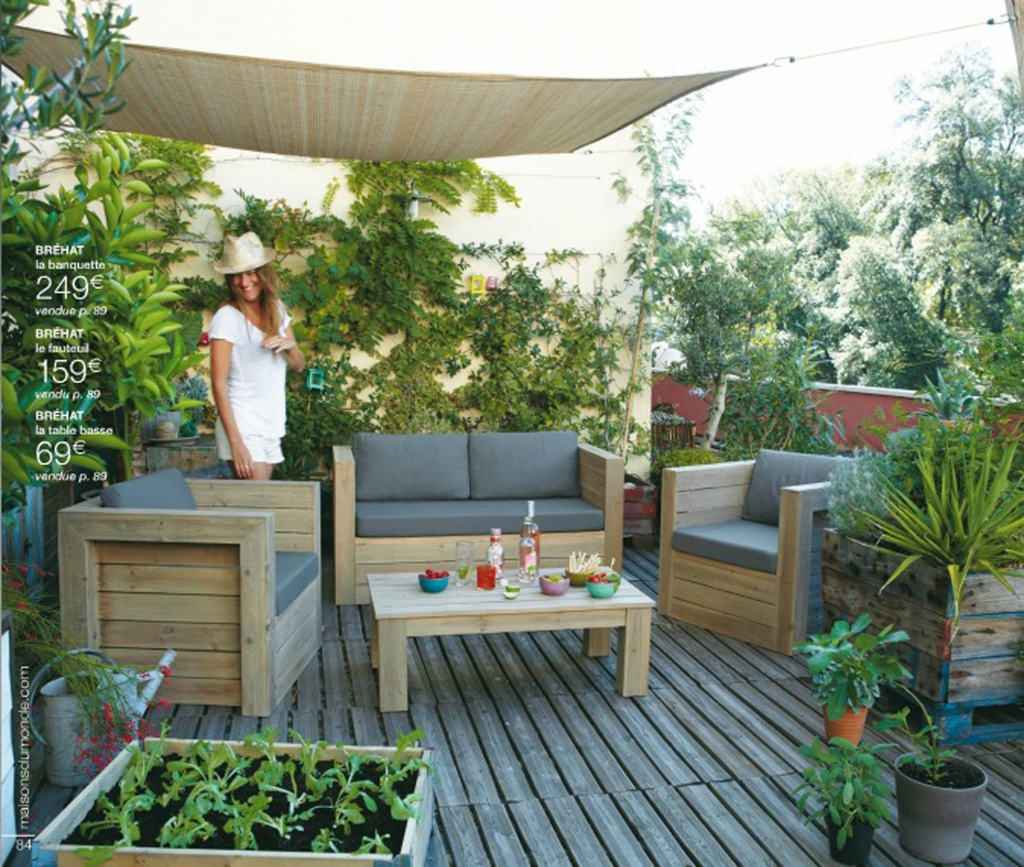 Terrasse idees deco plantes veranda accueil design et for Idee amenagement terrasse
