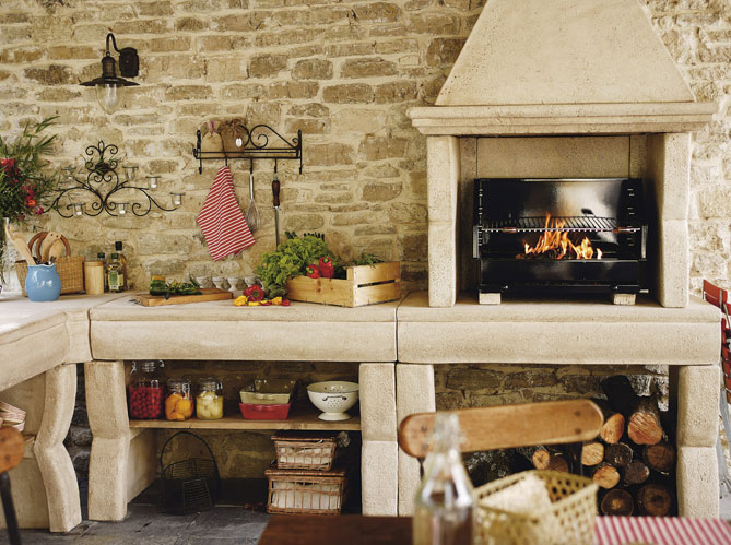 idee deco terrasse barbecue. Black Bedroom Furniture Sets. Home Design Ideas