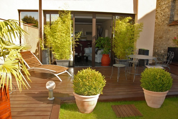 Photo decoration idees d coration terrasses for Idee jardin en terrasse