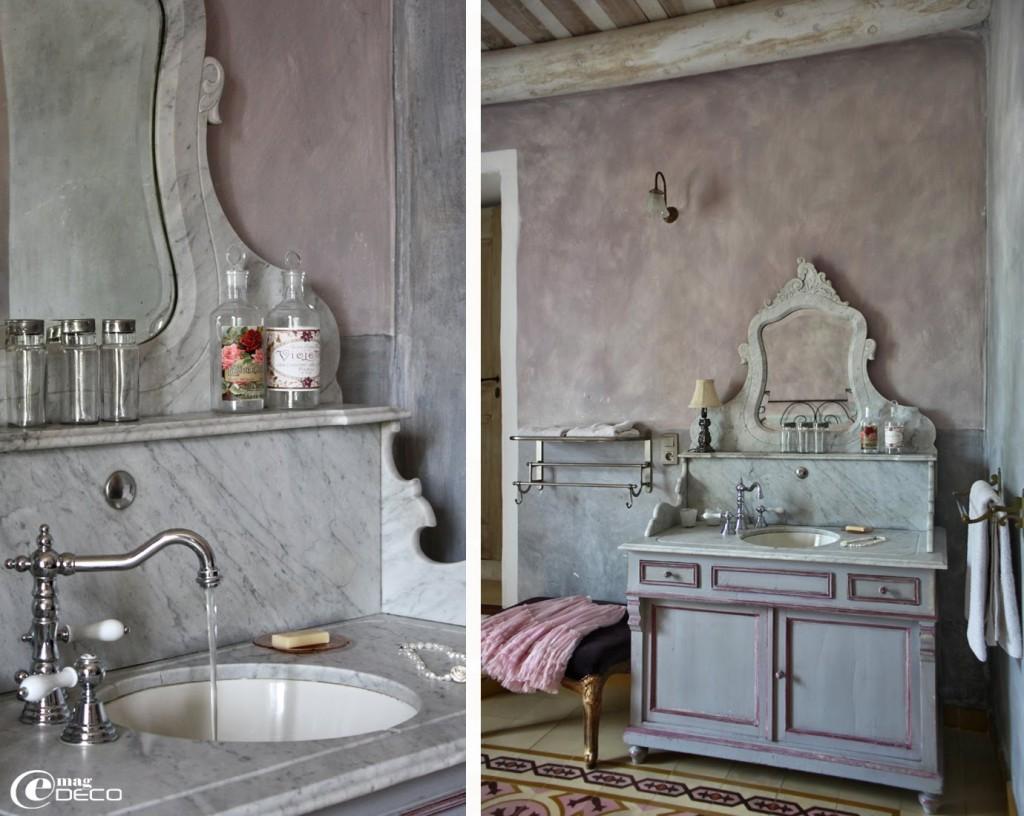 Photo meuble salle de bain à l ancienne