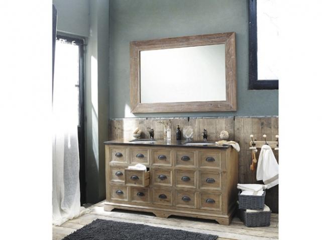 Meuble salle de bain l ancienne for Salle de bain campagne