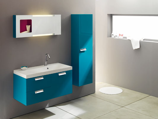 meuble salle de bain bleu turquoise. Black Bedroom Furniture Sets. Home Design Ideas