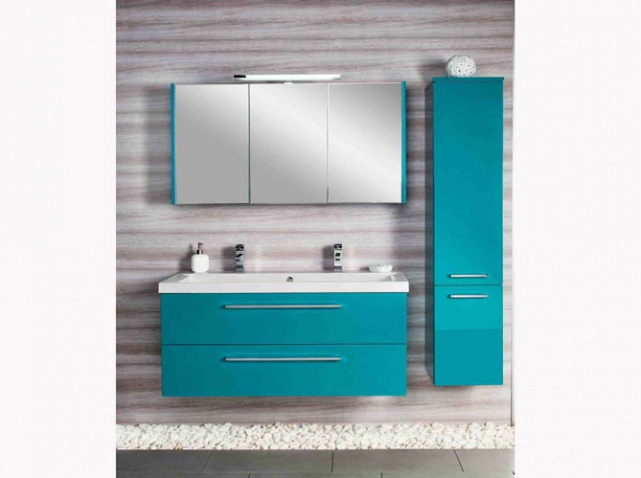 meuble de salle de bain bleu turquoise resine de. Black Bedroom Furniture Sets. Home Design Ideas