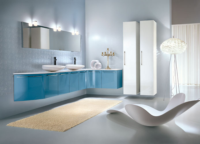 meuble salle de bain bleu turquoise - Meuble Salle De Bain Bleu