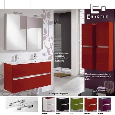 Meuble salle de bain rouge et blanc for Salle de bain rouge et blanc