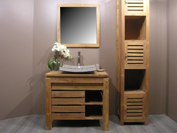 meuble salle de bain zen bois. Black Bedroom Furniture Sets. Home Design Ideas