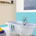 peinture salle de bain bleu turquoise