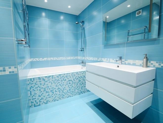 Stunning Idee Deco Salle De Bain Carrelage Bleu Pictures - Design