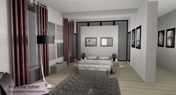 d co suite parentale romantique d co sphair. Black Bedroom Furniture Sets. Home Design Ideas