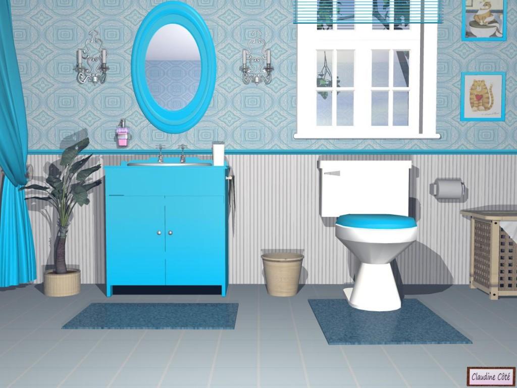 Photo salle de bain bleu turquoise for Univers salle de bain