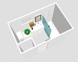 Salle de bain 5m2 avec douche italienne for Plan de salle de bain de 5m2