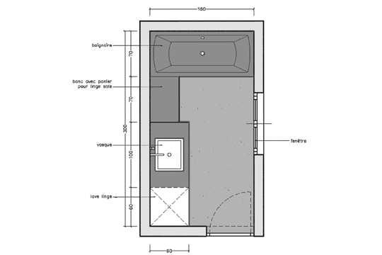Salle de bain 5m2 avec wc for Salle de bain 5m2 avec baignoire