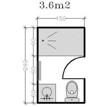 Salle de bain 5m2 avec wc for Salle de bain 3m2 avec wc