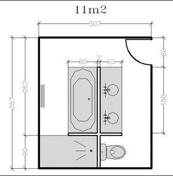 Salle de bain 5m2 avec wc for Salle de bain baignoire et douche 7m2