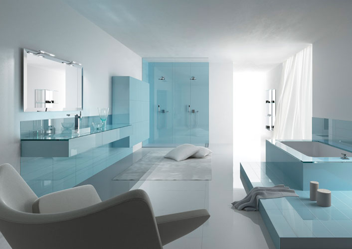 salle de bain bleu turquoise et blanc. Black Bedroom Furniture Sets. Home Design Ideas