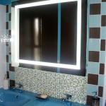 Photo salle de bain bleu turquoise et marron
