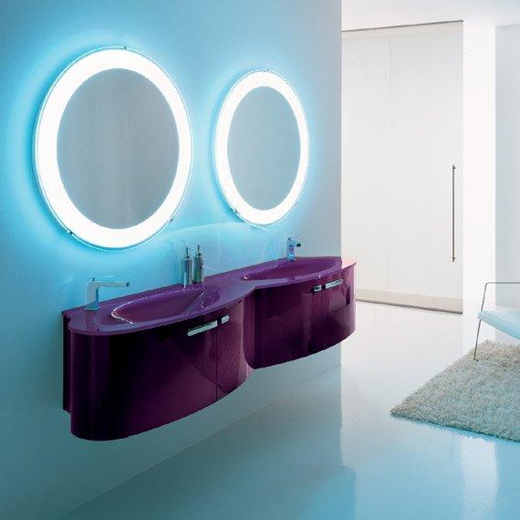 Mod le salle de bain bleu turquoise et marron - Salle de bain blanche et marron ...