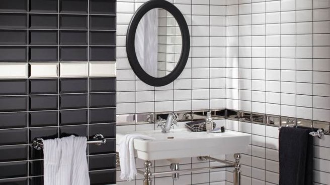 modèle salle de bain carrelage metro