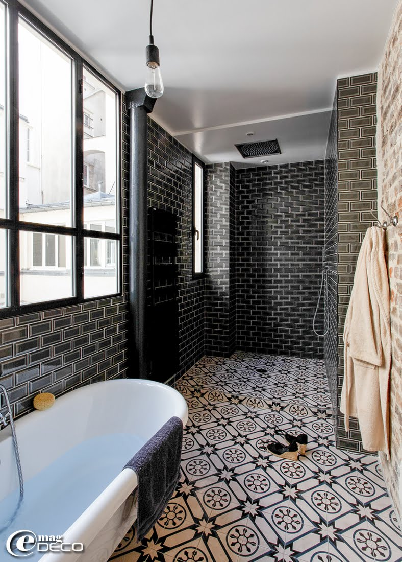 Photo salle de bain carrelage metro