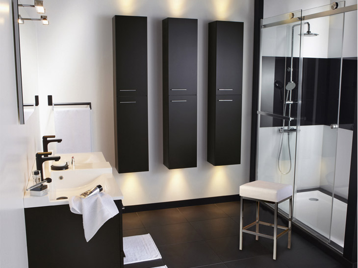 salle de bain leroy merlin douche. Black Bedroom Furniture Sets. Home Design Ideas