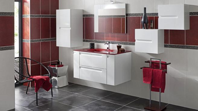 Emejing Salle De Bain Rouge Et Beige Photos  Awesome Interior Home