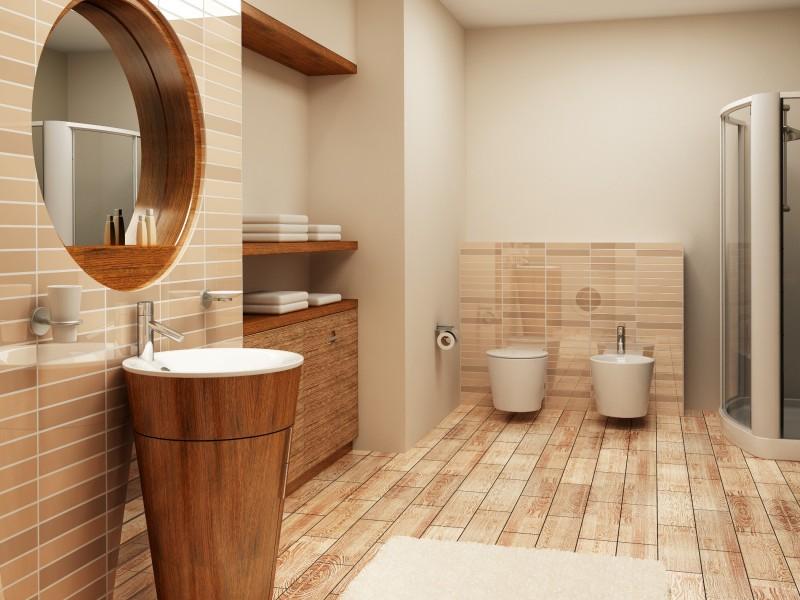 belle salle de bain zen bois
