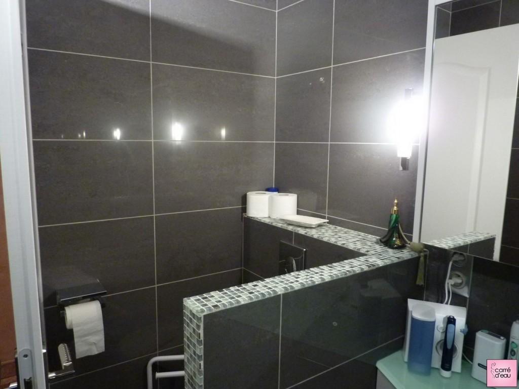 salle de bains carrelage mural. Black Bedroom Furniture Sets. Home Design Ideas