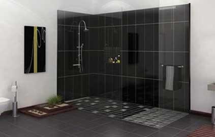 salle de douche a l italienne. Black Bedroom Furniture Sets. Home Design Ideas